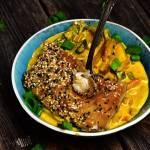 Halibut na warzywnym curry