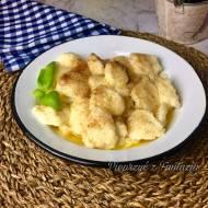 Kluseczki serowe kładzione z masłem i cynamonem
