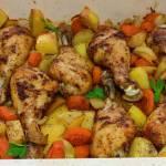 Pieczone pałki z kurczaka z ziemniakami