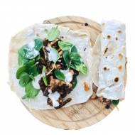 Kebab z mięsem z rosołu z domowymi wrapami