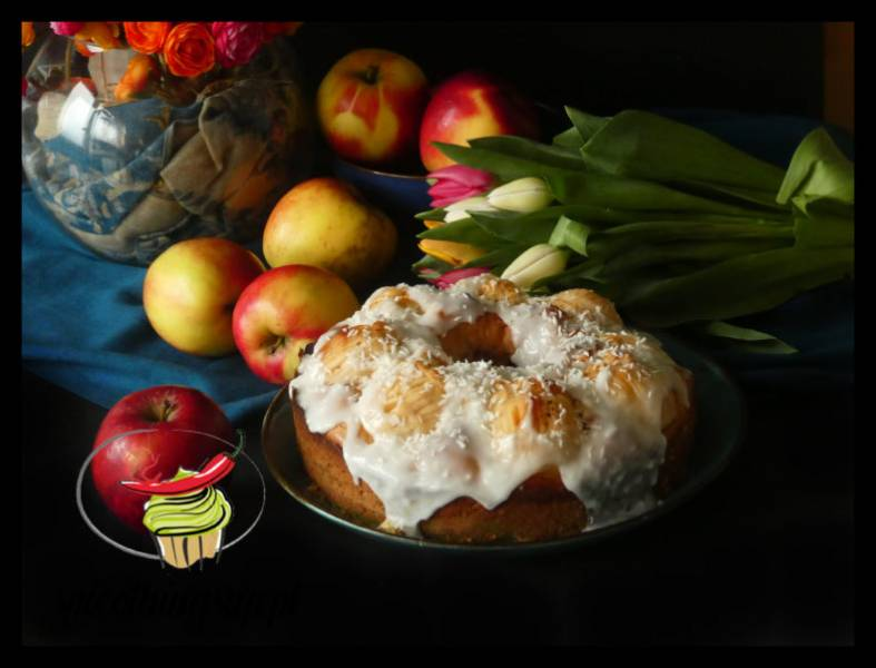 Ciasto kokosowe z jabłkami