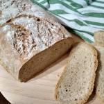 Chleb pszenno-żytni na jogurcie.
