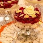 Deser wiśniowy z kremem waniliowym