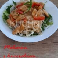 Makaron z kurczakiem w sosie cebulowo-paprykowym wg Aleex