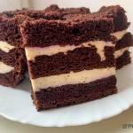 Ciasto Zebra z Musem Porzeczkowym