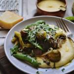 Polenta z pieczonymi warzywami na przednówek