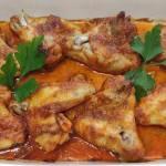 Pieczone skrzydełka w ketchupie i majonezie
