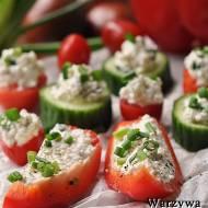 Warzywa faszerowane twarogiem