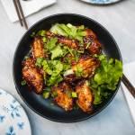 Ostry kurczak w miodowej glazurze