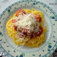 Spaghetti z klopsikami drobiowymi