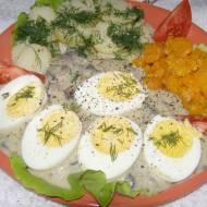 sos pieczarkowy z jajkami na obiad...