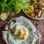 Pieczony kalafior limonkowo-miętowy