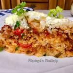 Zapiekanka z ryżu i mięsa mielonego