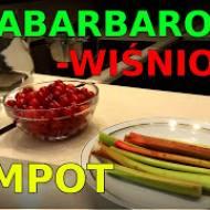 Kompot z rabarbaru i wiśni