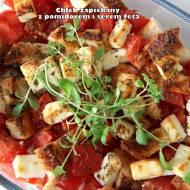 Chleb zapiekany z pomidorem i serem feta