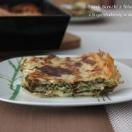 Börek turecki z fetą i szpinakiem