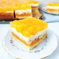 Ciasto Aurora z brzoskwiniami z puszki i budyniem / 'Aurora' Peach Cake