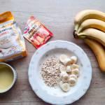 Pieczona owsianka bananowo – czekoladowa