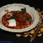 Zupa pomidorowa z ośmiornicy z jogurtem
