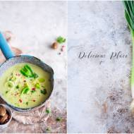 Zupa z pora z parmezanem