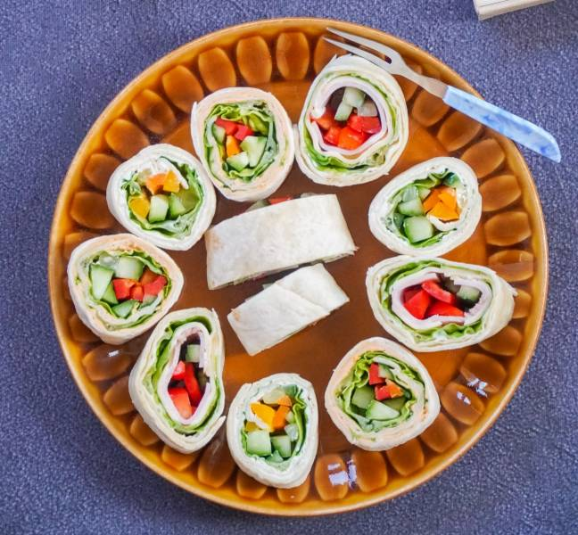Wegetariańskie tortille na przystawkę