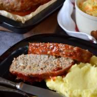 Pieczeń z mięsa mielonego w glazurze