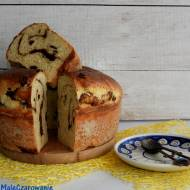 Ciasto z żurawiną i masą cynamonową na zakwasie