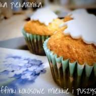 Muffinki kokosowe - miękkie i puszyste