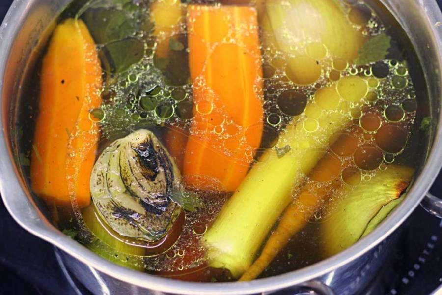 Rosół wegański (keto, low carb)
