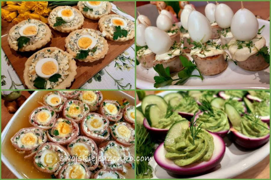 Śniadanie wielkanocne -część 2 -  proste przekąski z jajkiem