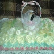 Tort weselny kokosowy