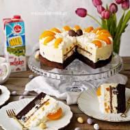 Wiosenny tort owocowy z kremem budyniowym i serowym