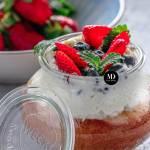 Ciasto w słoiku – ciasto cytrynowe pieczone w słoiku