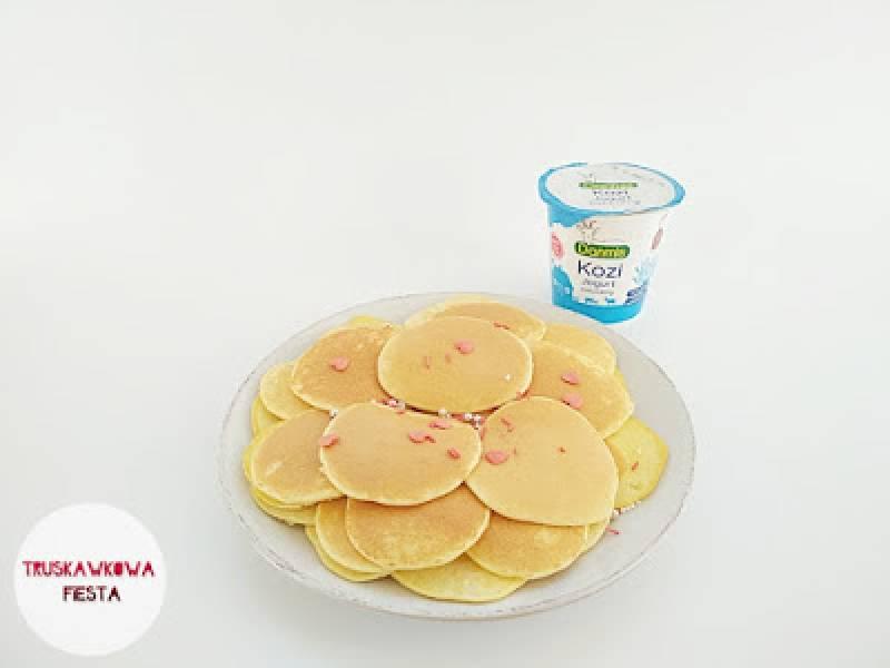 Placuszki jaglano-ryżowe z jogurtem kozim