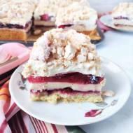 Kostka malinowo - bezowa / Meringue Raspberry Cake