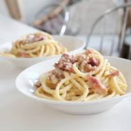 Szybkie spaghetti z boczkiem