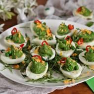 Zielone jajka z pastą