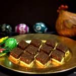Mazurek z czekoladową krówką