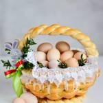 Wielkanocny koszyczek drożdżowy