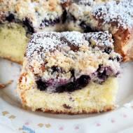 Proste ciasto ucierane z jagodami (mrożonymi)