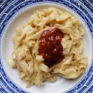 Węgry - Grízes tészta, czyli makaron z grysikiem i powidłami morelowymi