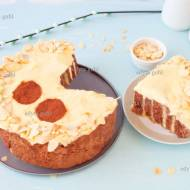 Zawijany tort orzechowy z budyniowym kremem