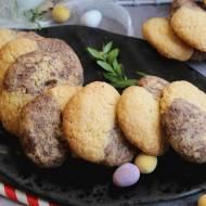 Orzechowo-waniliowe ciasteczka dwukolorowe