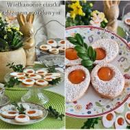 Ciastka jajka sadzone. Wielkanocne ciasteczka z dżemem morelowym.