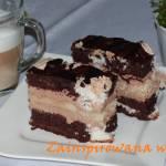 Ciasto dwukolorowe z masą Ikarową