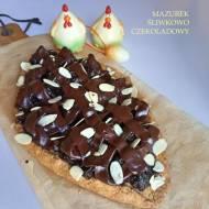 Mazurek śliwkowo czekoladowy
