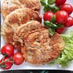 Sznycle z indyka w cieście z bazylią i suszonymi pomidorami
