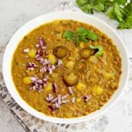 Zupa z zielonej soczewicy. Bardzo aromatyczna, pożywna i zdrowa. Przepis wegański