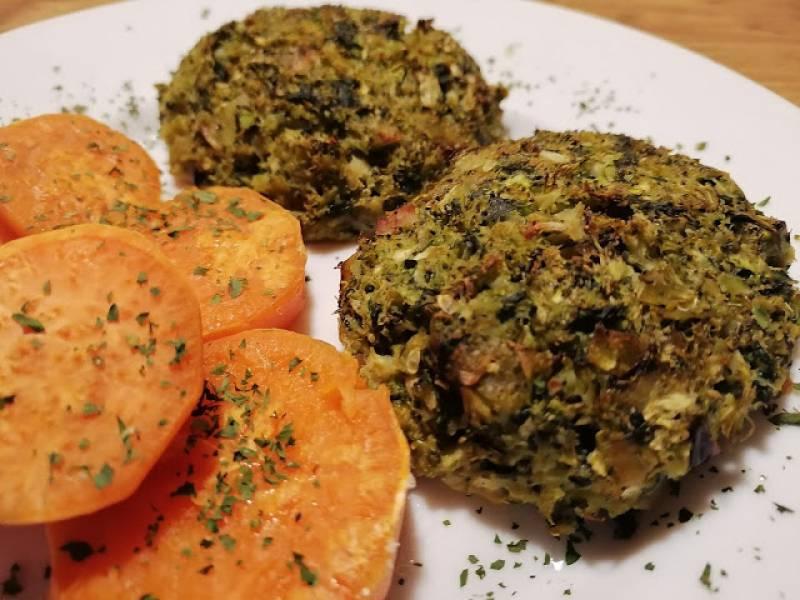 Mielone z brokułu z batatami