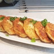 Placki z gotowanych ziemniaków i mozzarelli